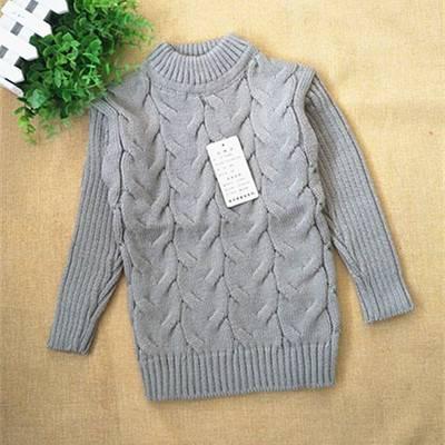 儿童毛衣1-2-3-4-5岁宝宝女童高领毛衣男童套头加厚低领打底衫冬