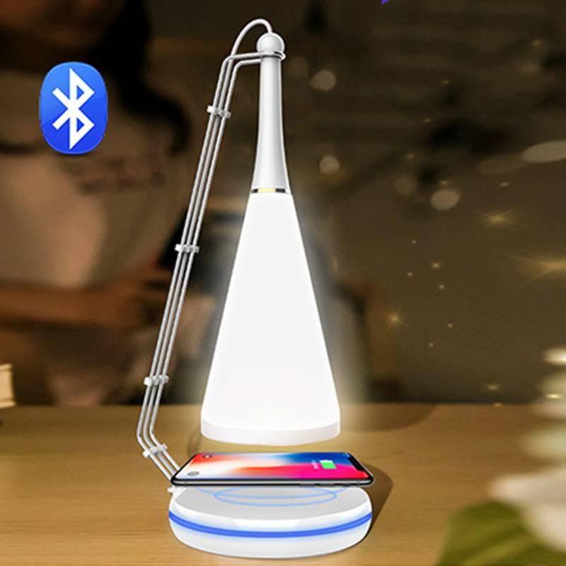 创意智能音乐台灯无线充电蓝牙音箱小夜灯情趣床头灯网红生日礼物