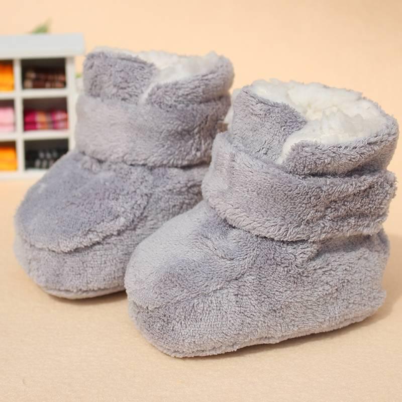宝宝鞋子0-1岁春秋6薄款冬季12月加绒包包男女软底不掉脚婴儿棉鞋