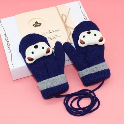 兒童手套冬季寶寶手套男童女童加厚加絨保暖卡通小孩手套兒童學生