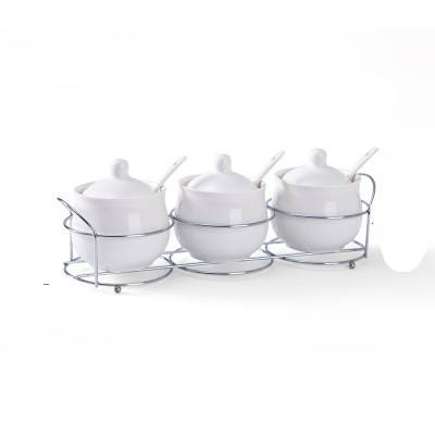 陶瓷调料盒厨房用品家用调味罐调味盒调味料瓶佐料盐罐三件套套装
