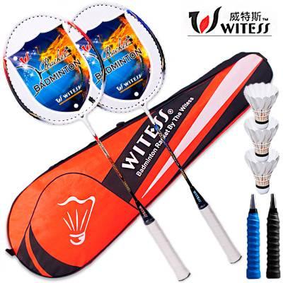 WITESS羽毛球拍双拍2支成人男女初学进攻耐用型儿童学生单拍耐打