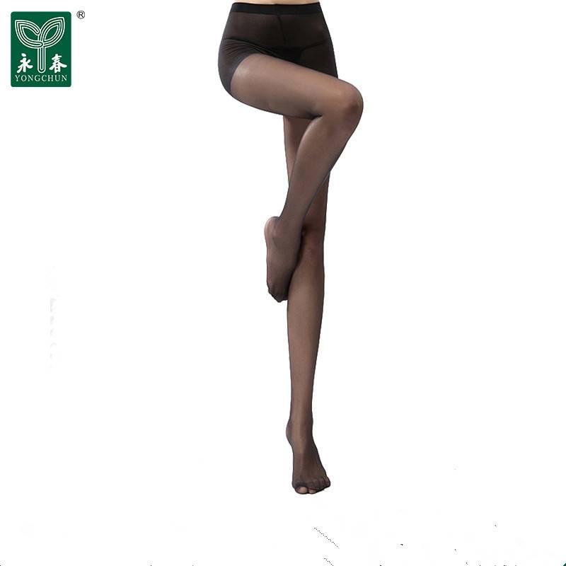 永春3双装丝袜女薄款防勾丝连裤袜夏薄款包芯丝丝袜黑肉色连裤袜