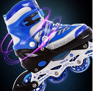 捷豹溜冰鞋儿童全套装男童3-5-6-8-10岁初学者轮滑鞋男女童直排轮