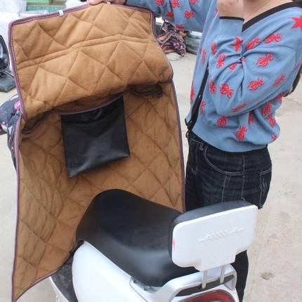 电动摩托车挡风被冬季加绒加厚防雨电瓶自行车防晒罩电车保暖秋夏