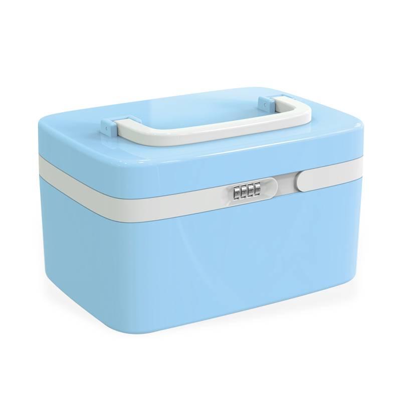 宝丽密码收纳箱塑料收纳盒带锁箱子特大号家用整理箱车载储物箱