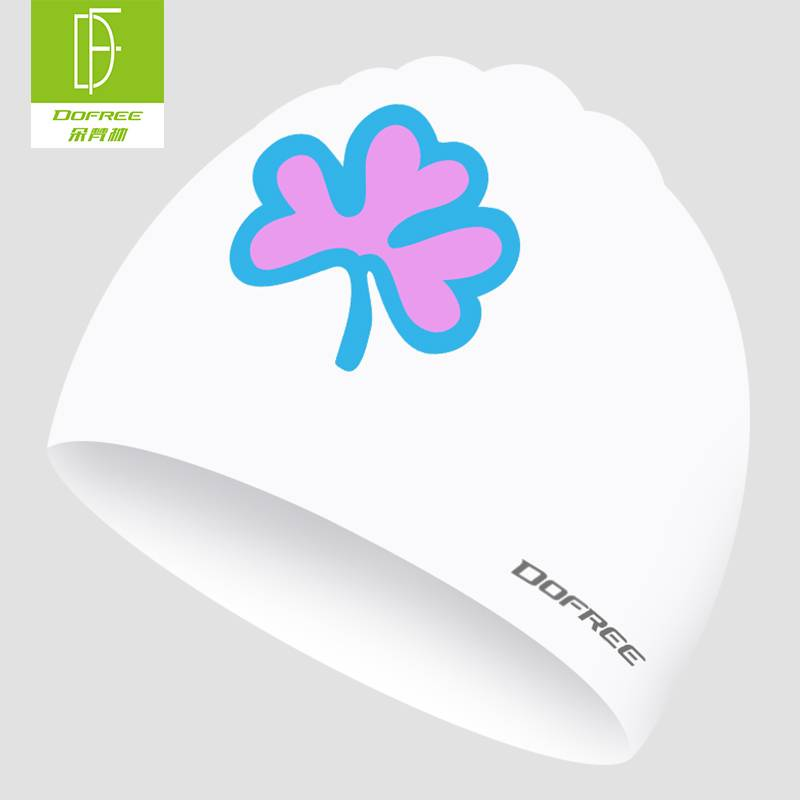 朵梵林泳帽女长发防水大号不勒头可爱韩国硅胶儿童游泳帽泳镜套装