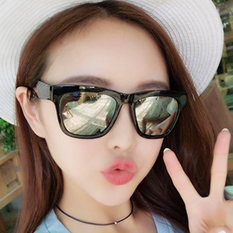 男士墨镜女潮明星款圆脸开车太阳镜2017新款韩国司机眼镜复古眼睛