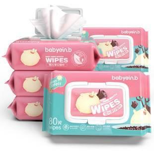 【速抢】婴儿湿巾80抽*5包