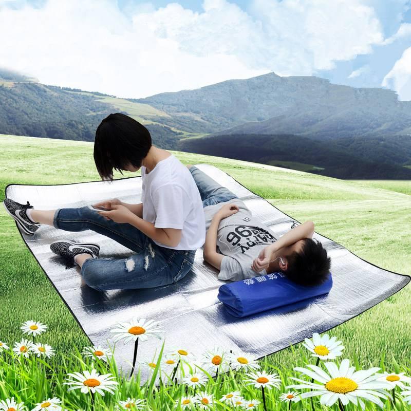 防潮垫野餐垫3-4人露营垫爬行垫折叠地垫户外防水铝箔垫