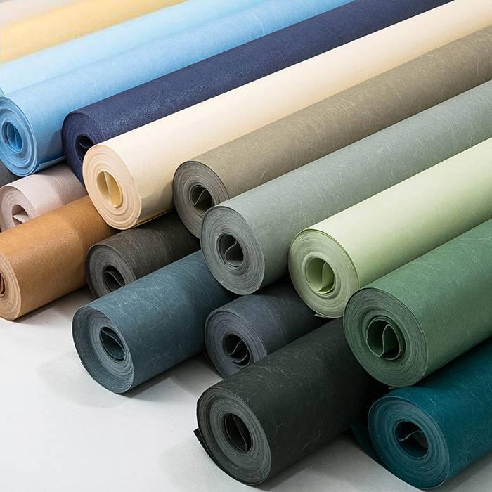 现代简约壁纸无纺布蚕丝纯色素色卧室墙纸北欧客厅电视背景墙壁纸