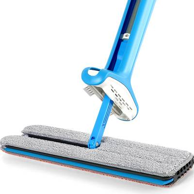 免手洗拖把平板家用一拖干湿两用吸水拖布大号木板懒人拖地神器净