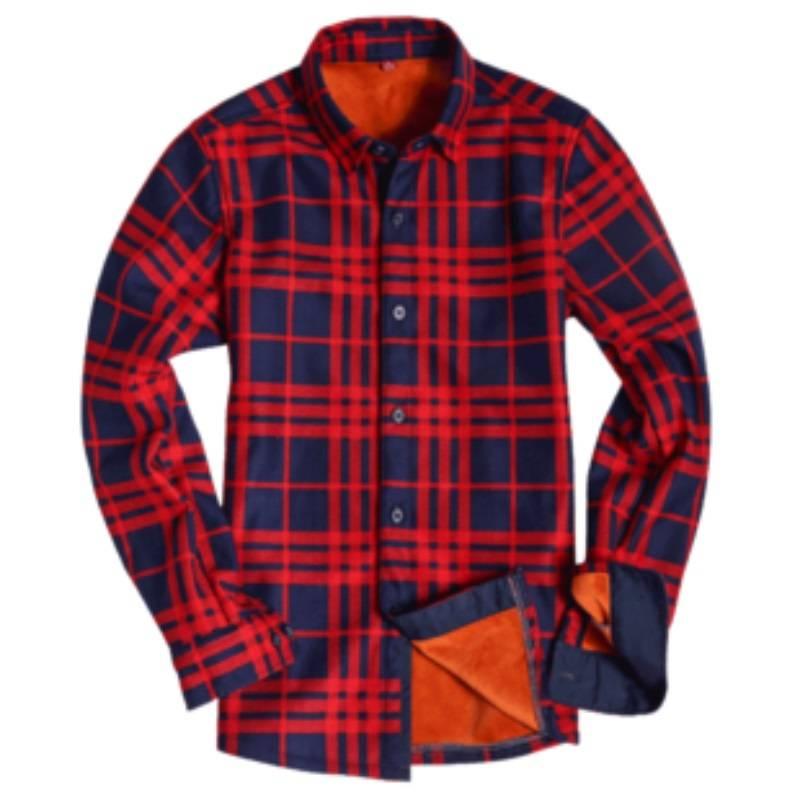 秋冬加绒保暖格子衬衫女长袖衬衣轻熟修身大码女装外套初秋女上衣