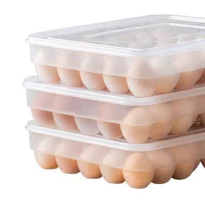 鸡蛋收纳盒架托多层家用冰箱长方形速冻饺子葱花托盘放食品保鲜盒