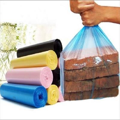 文婷5卷加厚垃圾袋厨房家用点断平口手提背心大中号垃圾袋包邮