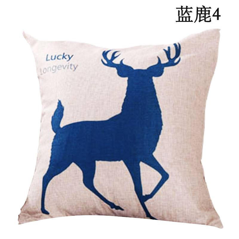 卡通火烈鸟沙发抱枕套不含芯车用靠垫办公室靠背床头腰枕正长方形