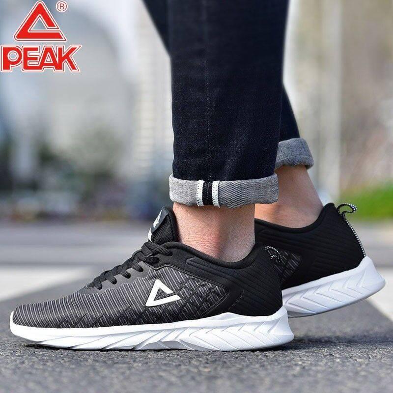 匹克男鞋跑步鞋2020夏季新款正品男士休闲鞋学生皮革黑色运动鞋男
