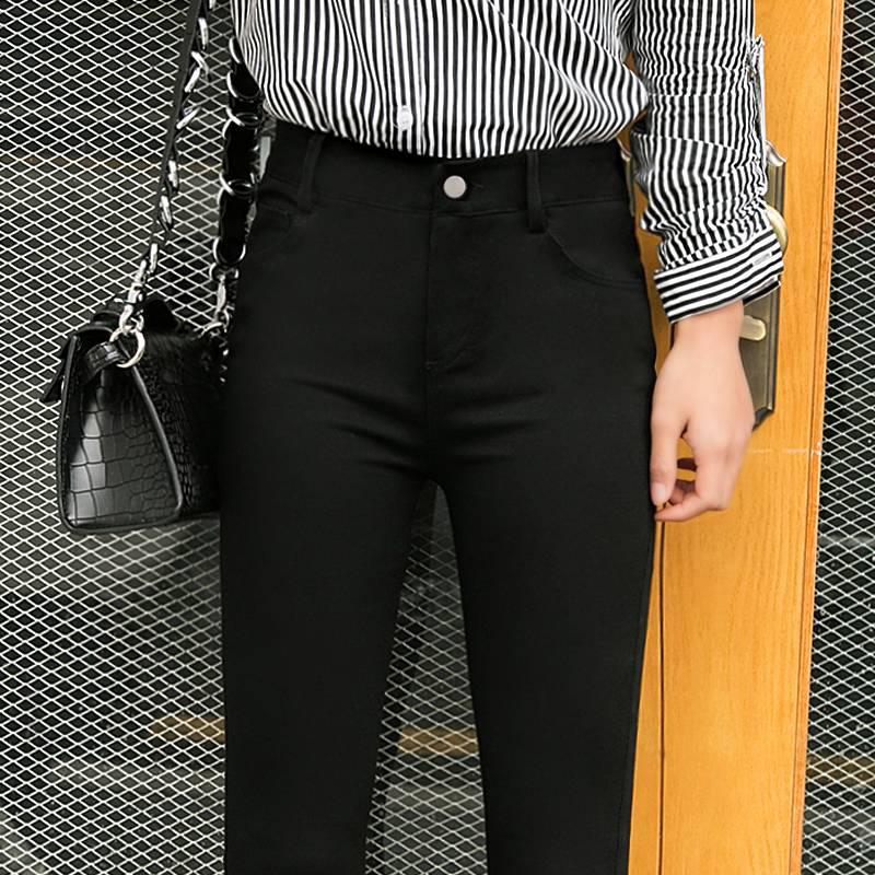 魔术黑色打底裤女裤外穿秋冬季加绒加厚小脚2019新款高腰显瘦百搭