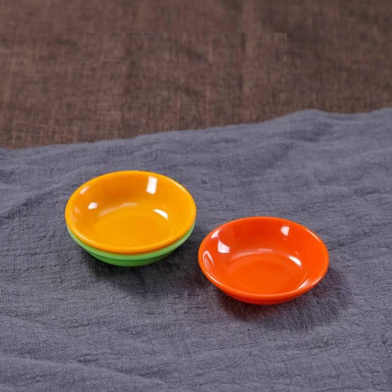 喜之佳肠粉专用碟商用小吃碟长方形火锅菜盘密胺塑料盘子仿瓷餐具