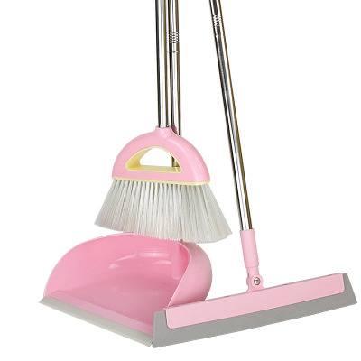掃把簸箕組合套裝家用軟毛魔法掃把刮水器掃地笤帚不沾發掃帚神器