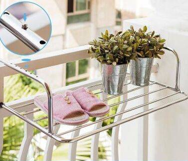 阳台收纳神器高层小型晒衣架折叠窗外晒鞋架晾衣服架暖气片晾衣架