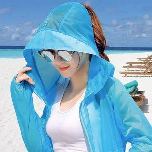 防曬衣女2020夏季新款中長款長袖防紫外線外套冰絲超薄款防曬服衫