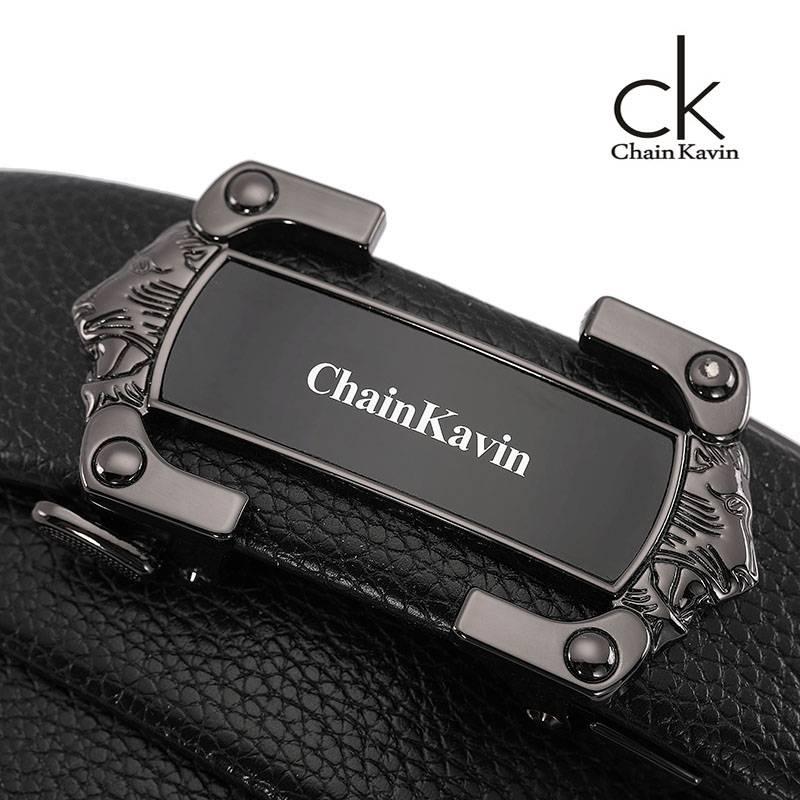 原版ChainKavin CK-06皮带男真皮菲拉自动扣青年韩版纯牛皮礼盒装