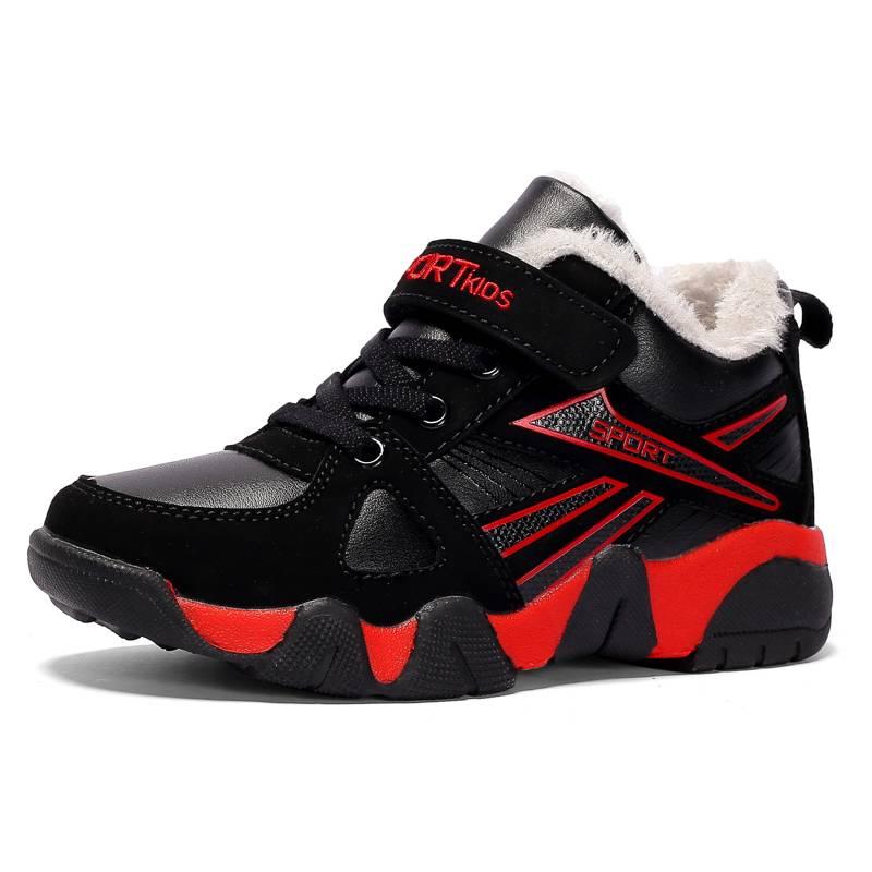 童鞋男童加绒加厚棉鞋2018新款秋冬季透气二棉儿童鞋子男孩运动鞋
