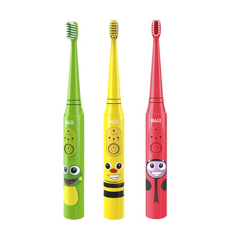 拜尔儿童电动牙刷充电式3-6-12岁小孩宝宝声波震动软毛牙刷