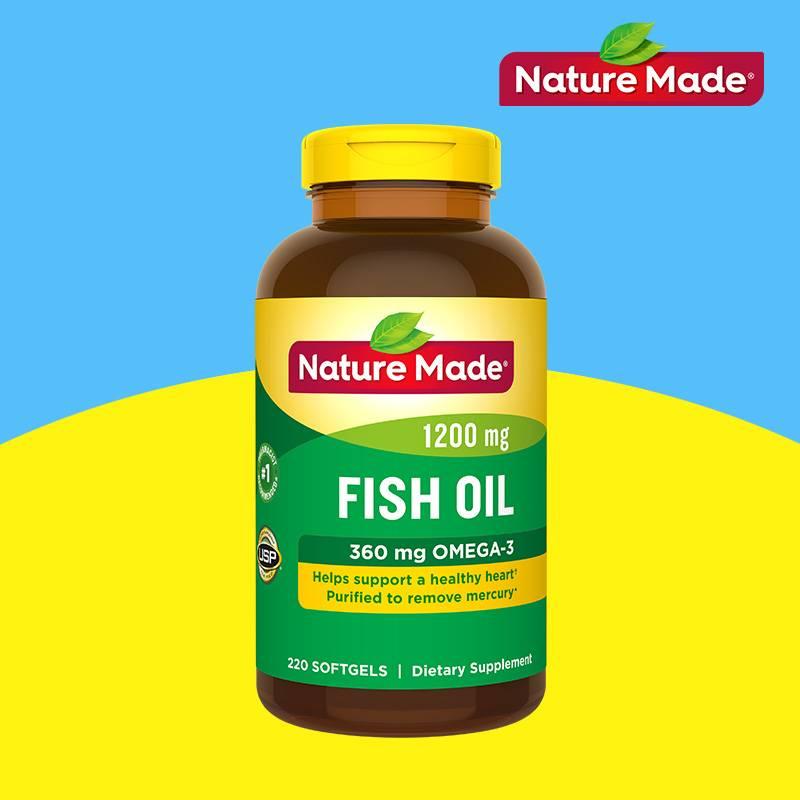 NatureMade/天维美深海鱼油220粒2瓶美国原装欧米伽
