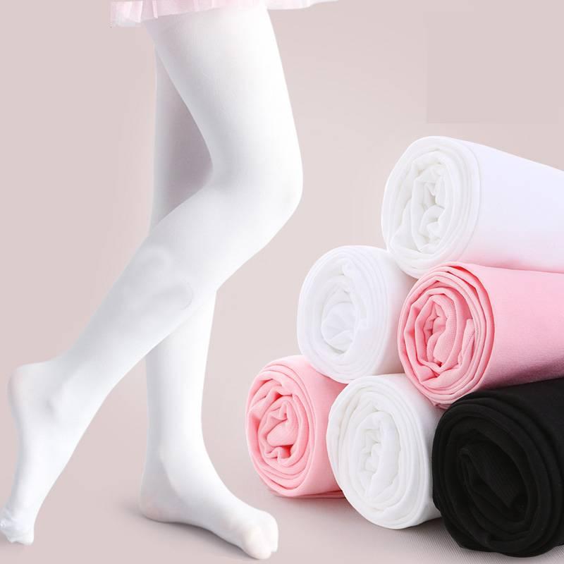 【4条装】儿童连裤袜夏季女童打底裤宝宝白色丝袜薄学生舞蹈袜女