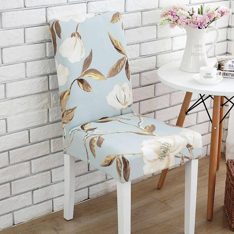 餐桌椅套布艺家用电脑弹力连体椅子套罩酒店饭店座椅套欧式简约