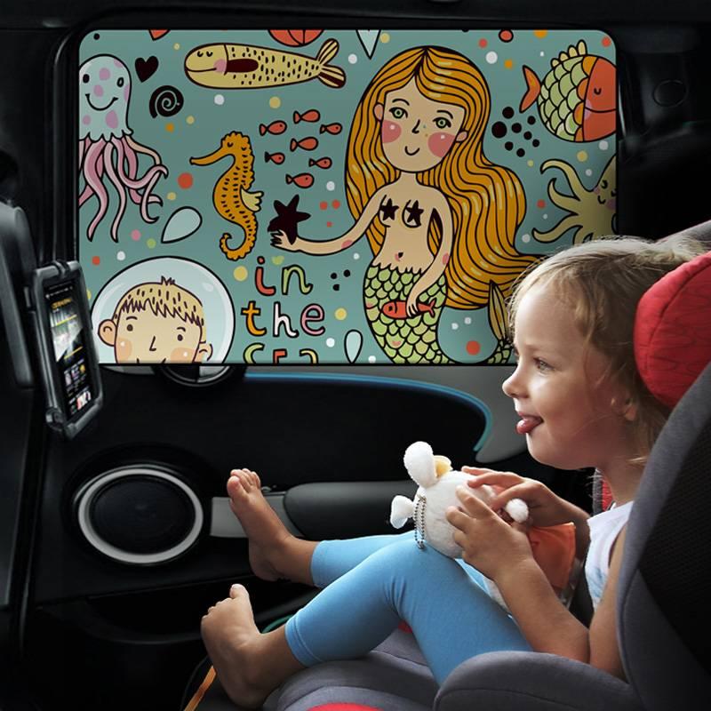 汽车遮阳帘车窗帘小车防晒隔热遮阳挡罩磁铁遮光帘玻璃遮阳板神器