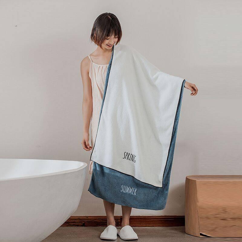 日系刺绣大浴巾
