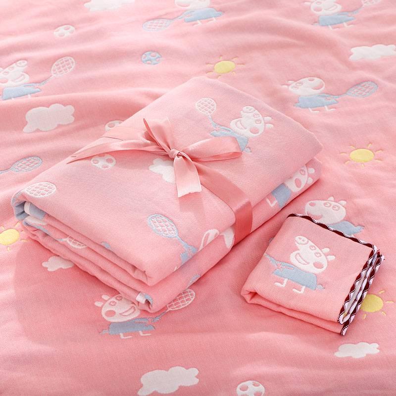 婴儿浴巾纱布六层纯棉吸水洗澡秋冬款宝宝新生儿童盖被毛巾被抱被