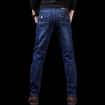 薄款弹力小脚牛仔裤男韩版男裤子修身秋季直筒牛仔裤男士长裤高