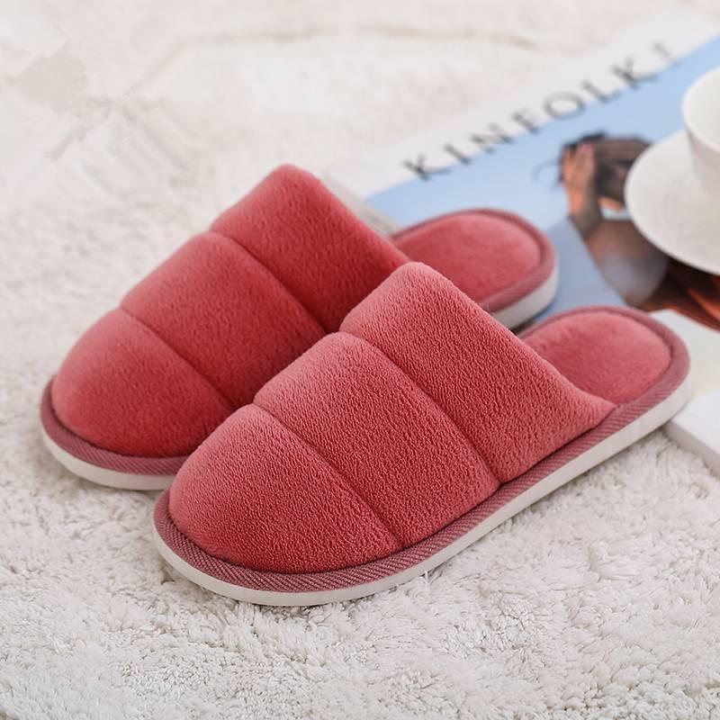 冬季家居家情侣男士大码棉拖鞋室内可爱卡通毛毛木地板拖鞋女冬天