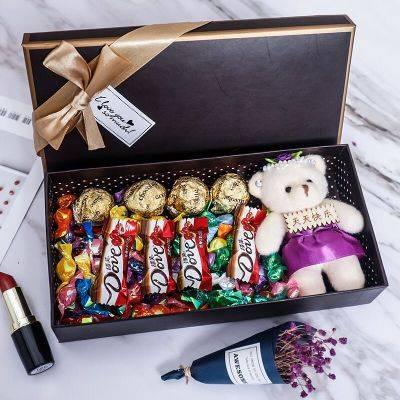 七夕情人节礼物送女友男友创意实用香花束礼盒浪漫生日礼物盒