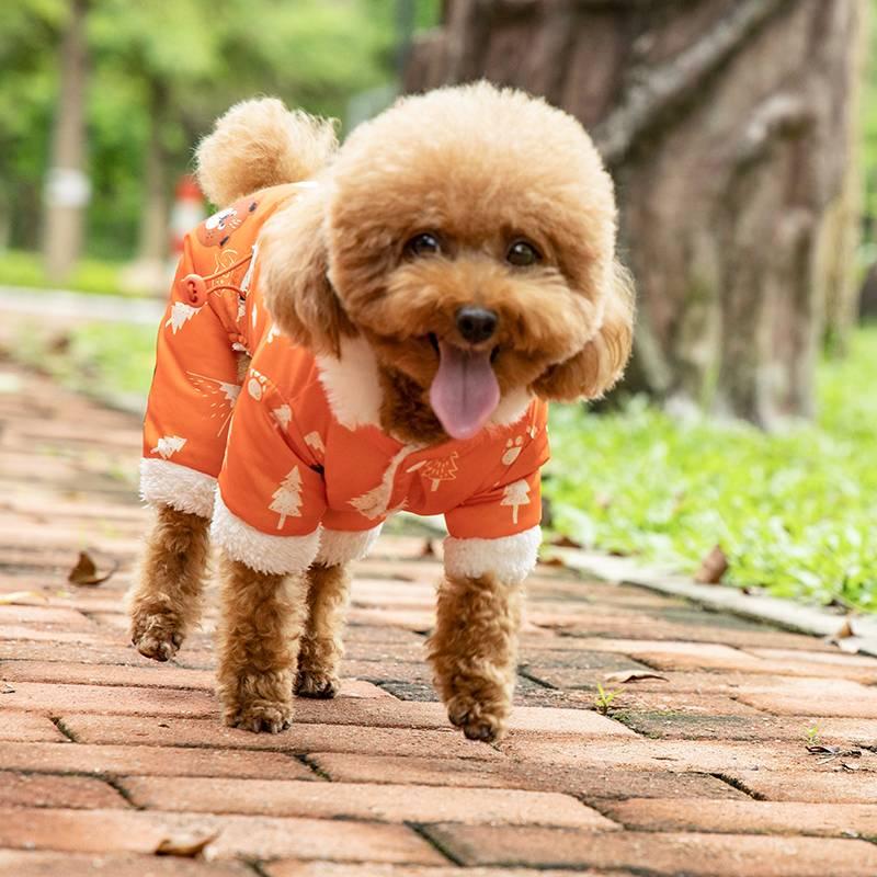 泰迪衣服冬装小狗四脚衣比熊博美宠物棉衣加厚保暖小型犬狗狗衣服