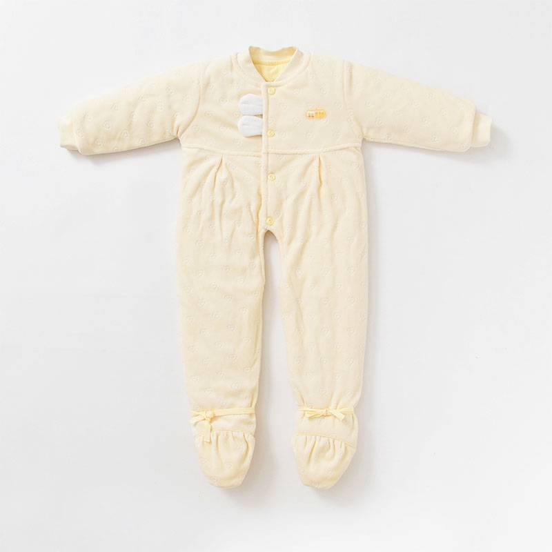 牵手娃婴儿连体衣冬季宝宝新生儿加厚外出外穿冬装外套棉衣 衣服