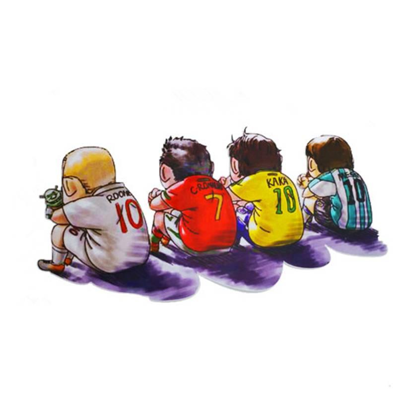 划痕装饰遮挡车身贴车贴纸 创意梅西足球宝贝世界杯汽车贴纸C罗