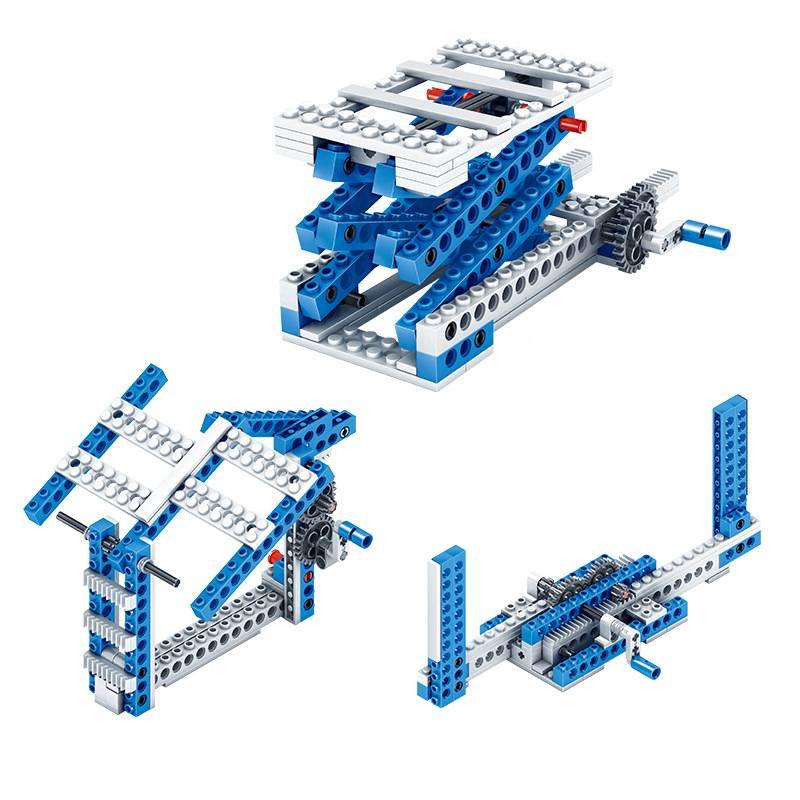 男孩子电子机器人拼装电动万格积木科技系列机械组齿轮玩具legao8