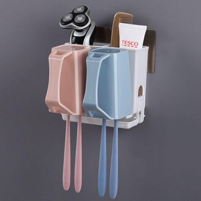 牙刷架免打孔卫生间刷牙杯置物架壁挂放牙刷的架子牙具漱口杯套装