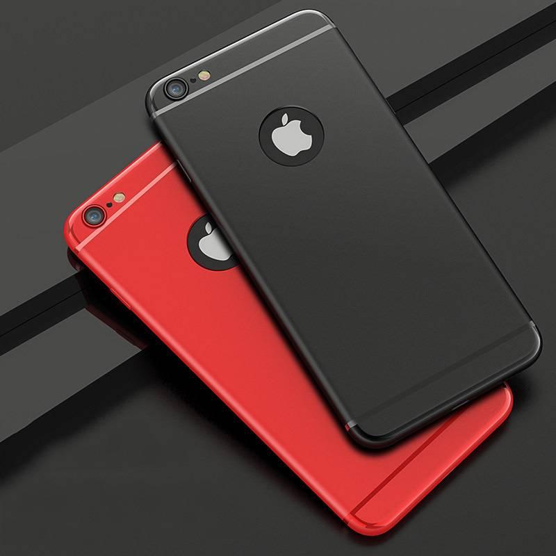 【送钢化膜】苹果6手机壳超薄iphone6p硅胶软壳6s全包防摔套新款6splus潮牌男女款磨砂i6p清新简约六个性创意