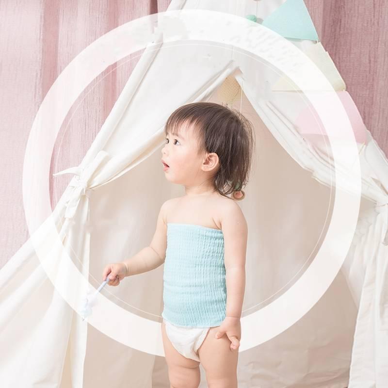婴儿护肚围纯棉新生儿肚脐裹腹围防踢宝宝护肚子神器肚兜夏季薄款