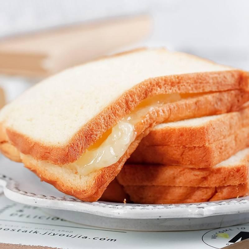千丝紫米面包整箱奶酪吐司黑米夹心好吃的切片手撕早餐蛋糕小零食