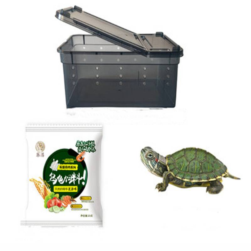 养龟的专用缸 小型水陆缸带晒台别墅 玻璃金鱼缸鱼龟混养缸乌龟缸