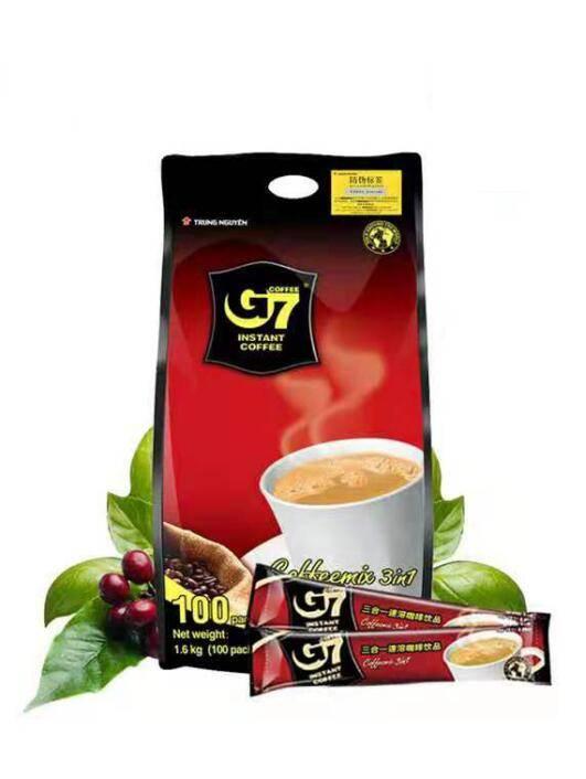 【G7旗舰店】越南原装进口中原G7三合一速溶咖啡粉100条1600g正品
