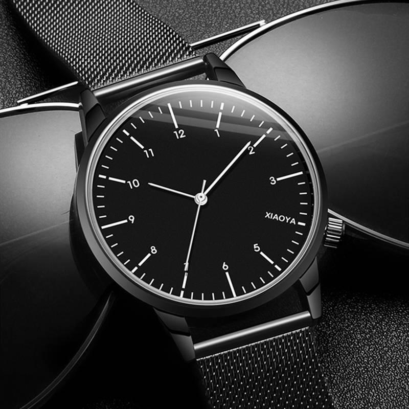 手表男防水时尚防水夜光男2019新款石英表韩版潮流新概念男士手表