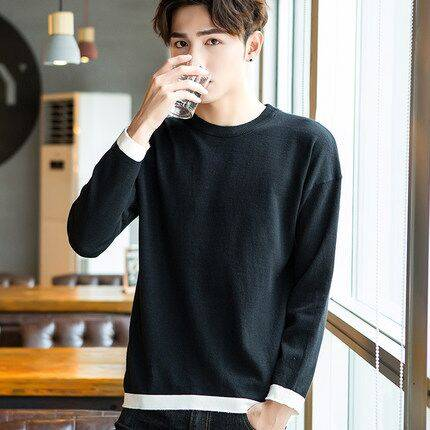 冬季男士高领毛衣男加绒加厚韩版纯色圆领修身个性针织衫打底衫潮